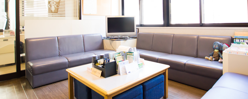 熊本歯列矯正センターの待合室