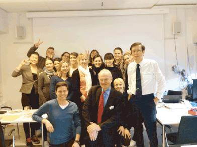 コペンハーゲン大学矯正科の学生たちと講義後の記念撮影