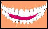 前歯で舌をかむ